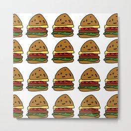 Ham Burger Metal Print