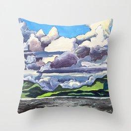 September Pleine Aire Throw Pillow