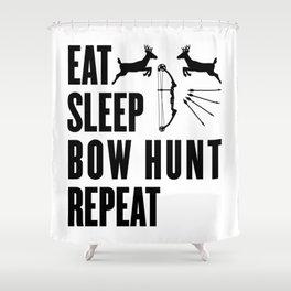 Hunter Bowhunter Bowhunting Huntress Huntsman Gift Shower Curtain