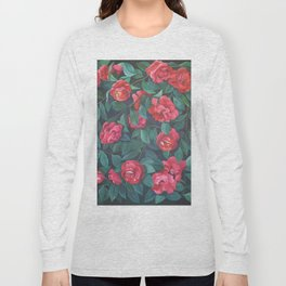 Camellias, lips and berries. Long Sleeve T-shirt