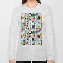 Memphis Milano Postmodern City Towers Long Sleeve T-shirt