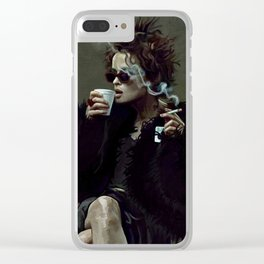 Marla Singer (remaining men together) Clear iPhone Case