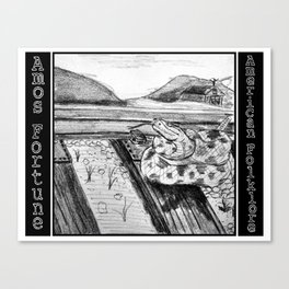 Amos Fortune Snake on Tracks Canvas Print