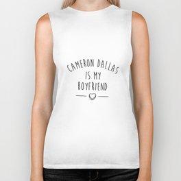 Cameron Dallas Is My Boyfriend Crop Top Tank Tumblr Vine Fangirl Dope Boyfriend T-Shirts Biker Tank