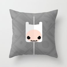Marshmallow Finn Throw Pillow