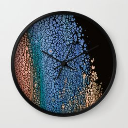 A RESIDUE AFTER THE FIRE AND ICE PLANET Wall Clock