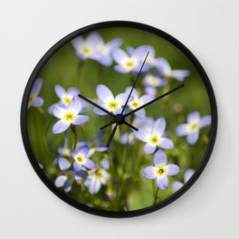 Country Wildflowers Wall Clock