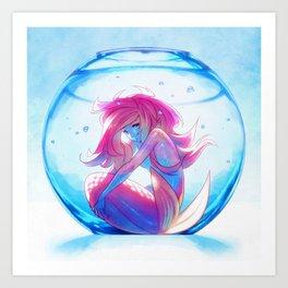 Captive Mermaid Art Print