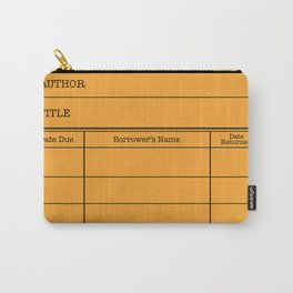 LiBRARY BOOK CARD (tang) Carry-All Pouch