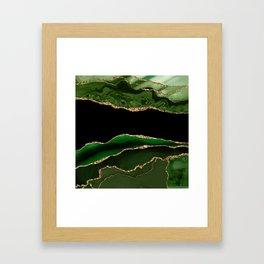 Emerald Marble Glamour Landscapes Framed Art Print
