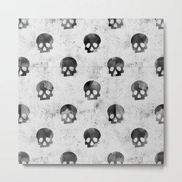 Grunge Skulls Pattern Metal Print