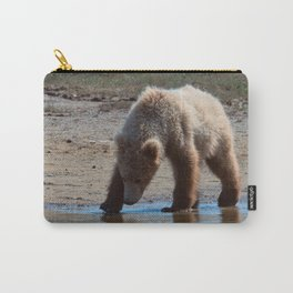 Grizzly Cub Drinking from Stream  Alaska Katmai National Park #Socety6 Carry-All Pouch