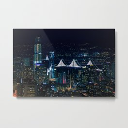 San Francisco lights Metal Print