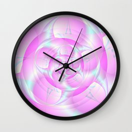 Spiral Pincers in Pink and Blue Wall Clock