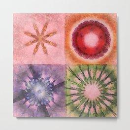Homologist Layout Flowers  ID:16165-145206-08810 Metal Print