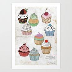 Cupcake dreaming Art Print