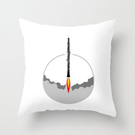 Oboe rocket Throw Pillow