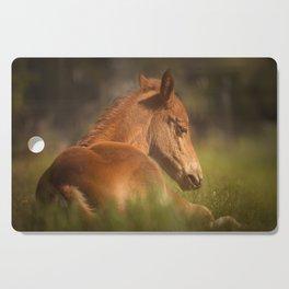 Cute Foal Laying Down Cutting Board