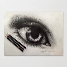3 Pencils. 1 Hour 10 Minutes Drawing an Eye Canvas Print
