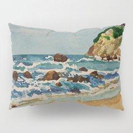 Block Island Beach Scene Pillow Sham