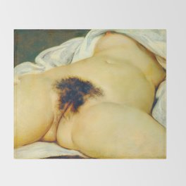 (BIG) Origin of the World : L'Origine du monde by Gustave Courbet Throw Blanket