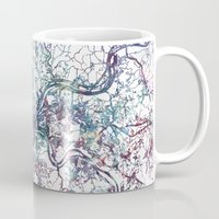 pittsburgh Mugs featuring Pittsburgh map by MapMapMaps.Watercolors