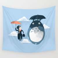 bunny Wall Tapestries featuring The Perfect Neighbor by Anna-Maria Jung