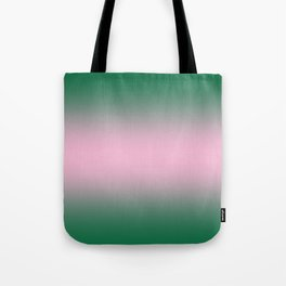 Cadmium Green to Cotton Candy Pink Bilinear Gradient Tote Bag