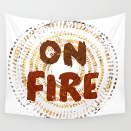 On Fire Wall Tapestry
