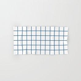Minimalism Window Pane Grid, Blue on White Hand & Bath Towel