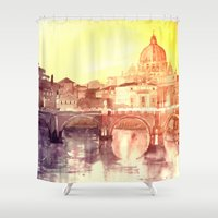 rome Shower Curtains featuring Rome by takmaj