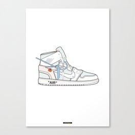Jordan x Off-White II Canvas Print
