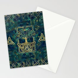 Tree of life - Yggdrasil with Triquetra  symbols Stationery Cards