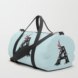 Letter A Funny Character Drawing Duffle Bag