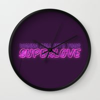 charli xcx Wall Clocks featuring SuperLove / Charli XCX by Justified
