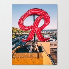 """Rainier """"R"""" Canvas Print"""