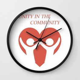 Cool & Awesome Unity Tshirt Design Unity in the Community Wall Clock