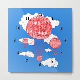 balloon clock Metal Print