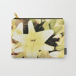 White lilium Carry-All Pouch