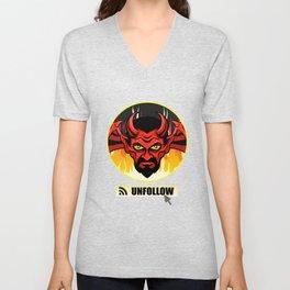 Devil Religion Unfollow Jesus God Gift Unisex V-Neck