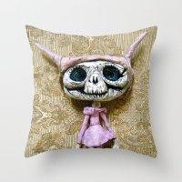 luna Throw Pillows featuring Luna by meme