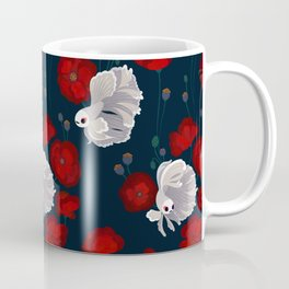 Bettas and Poppies Coffee Mug