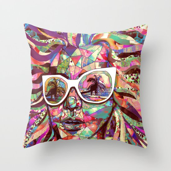 Sun Glasses In a Summer Sun Throw Pillow
