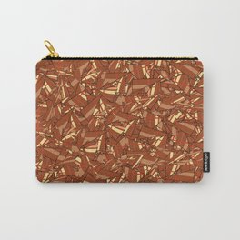 Chocolate Brown Abstract Carry-All Pouch