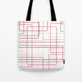 Red Cube Pattern Tote Bag