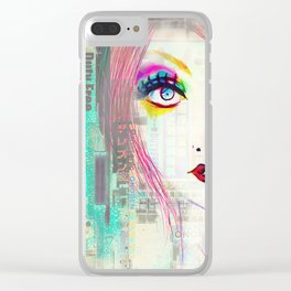 Colorful Gossip Clear iPhone Case