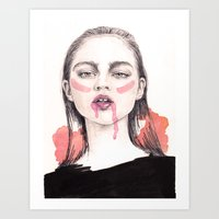 It's A Love/Hate Relationship With the Color Pink Art Print