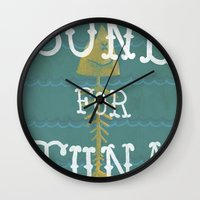 boardwalk empire Wall Clocks featuring bone for tune (boardwalk empire) by christopher-james robert warrington