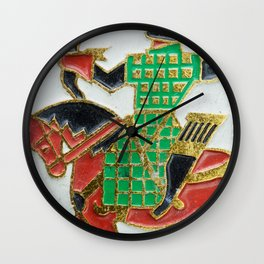 Russian Soldiers: Russian Lapel Pin Wall Clock