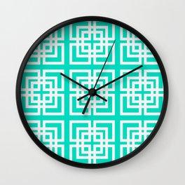Tiled Mint Wall Clock